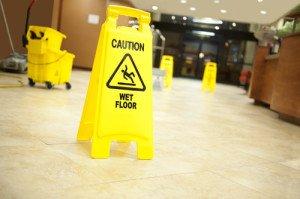 caution wet floor - shutterstock_84776038